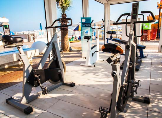 Fitness area on the beach